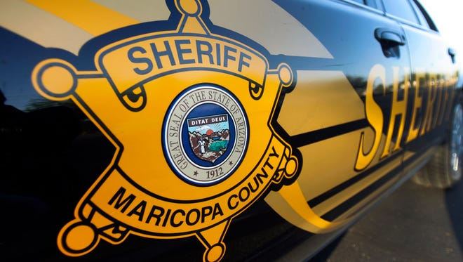 A Maricopa County Sheriff's Department squad car.