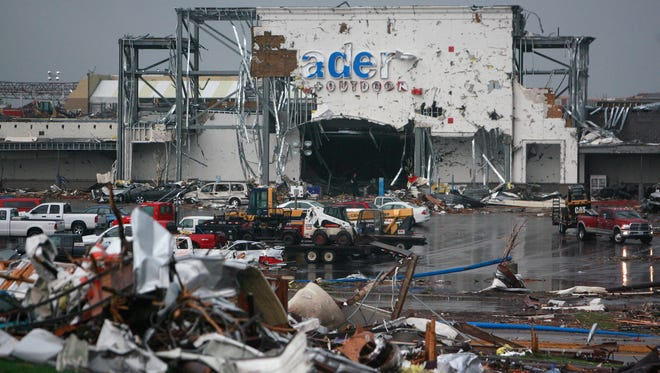 Academy Sports was heavily damaged after a tornado ripped through the city.