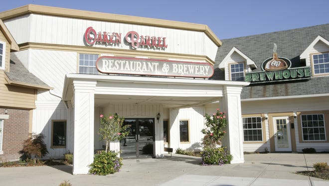 Plans include adding a outdoor patio to the front of Oaken Barrel Brewing Company in Greenwood.