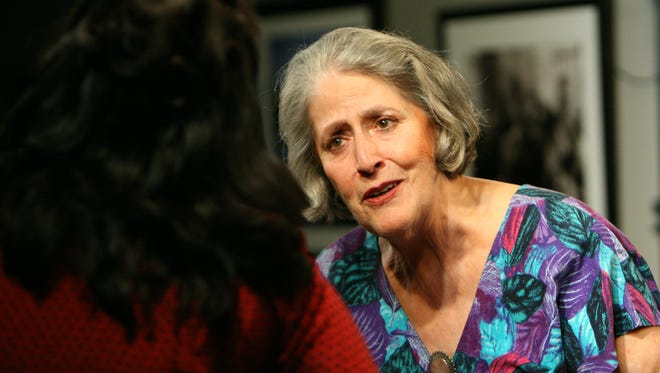 """Shela Jennings as Vera in OpenStage Theatre's 2008 production of """"The Oldest Profession,"""" by Paula Vogel."""