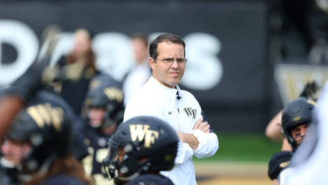 Wake Forest offensive coordinator and quarterbacks coach Warren Ruggiero is a former walk-on quarterback at Delaware who started his coaching career as a Blue Hens graduate assistant.