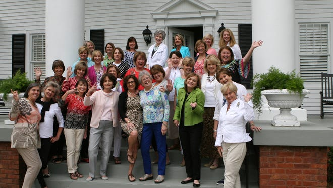 Shown in the front row from left to right are Pat Klimaszewski, Kris Yon, Cynthia Blakey, Charlotte Sams, Sheila King, Grace Clary, Martie Sturtz, Brenda Bone and Betty Jo Thompson; second row from left are Corky Harmon, Jean Vaughn, Debbie Borders, Debbie Ruthsatz, Elaine Hart and Tica Tallent; third row from left are Joy Hendricks, Julie Hart, Martha Bryant, Janie Curtis, Alisa Gibson, Karen Heineck and Lisa Groeber; and fourth row from left are Harriet Gilmer, Robin Tucker, Susan Thomas, Moyer Albergotti, Jackie Walker, Susan Wright and Jenna Fuller.