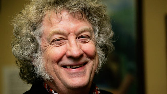 "Slade's Noddy Holder poses for a portrait session during a visit to his local pub on February 6, 2006 in Manchester, England. The band's 1973 smash ""Merry Xmas Everybody"" is a perennial holiday favorite across the pond."