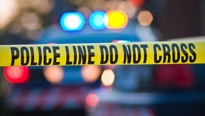 Crime scene tape stock photo