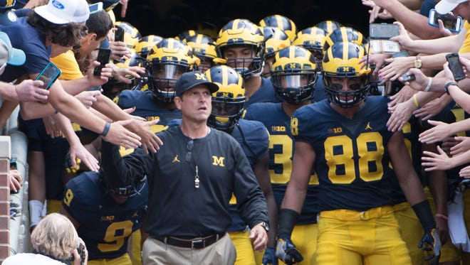 Michigan head coach Jim Harbaugh and his team are heading to Rome this spring.
