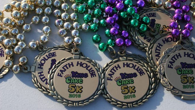 Runners will receive Mardi Gras medals for participating.