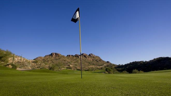 Gold Canyon Golf Club No. 4 on the Dinosaur Mountain Course.