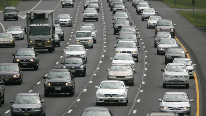 A file photo of Shore Traffic on the Garden State Parkway in Middleton