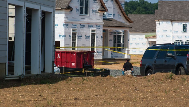 Scene at a residence in Holmdel were Monmouth County Prosecutor's Office confirmed two deaths, Thursday, August 10, 2017. (Contributor: EvaJo Alvarez)