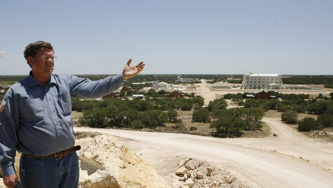 Edson Jessop gives a tour of the Yearning for Zion Ranch near Eldorado, Texas, on June 4, 2008, after the state relinquished custody of the Fundamentalist Church of Jesus Christ of Latter Day Saints children.