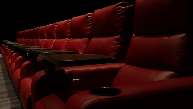 The new seats at the renovated Fox Gold Coast theater in Ocean City.