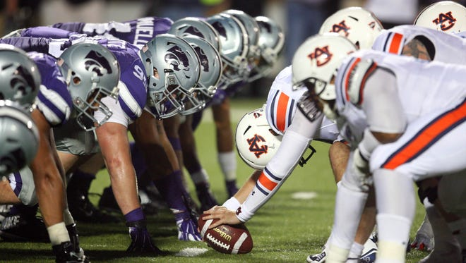 Kansas State hosted Auburn and lost on Sept. 18, but both teams are reaping the benefit of the matchup in the College Football Playoff selection committee's Top 25 ranking.