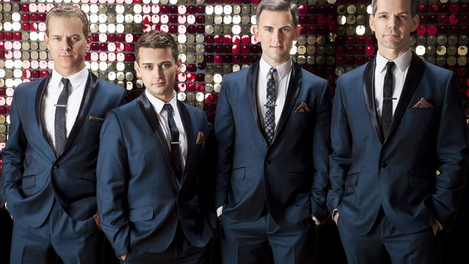 """The Tarrytown Music Hall welcomes back the original cast members of Broadway's """"Jersey Boys"""" – Tony Award winner Christian Hoff, Michael Longoria, Daniel Reichard and Tony Award nominee J. Robert Spencer – to a benefit the Wounded Warrior Project, on April 9."""
