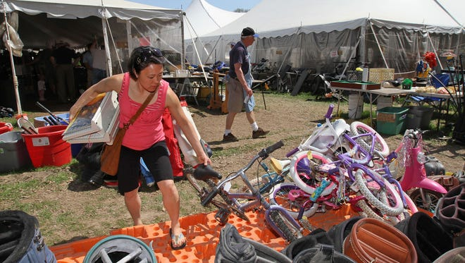 Shoppers find bargains and treasures at the VNA - Visiting Nurse Association sale in Far Hills.