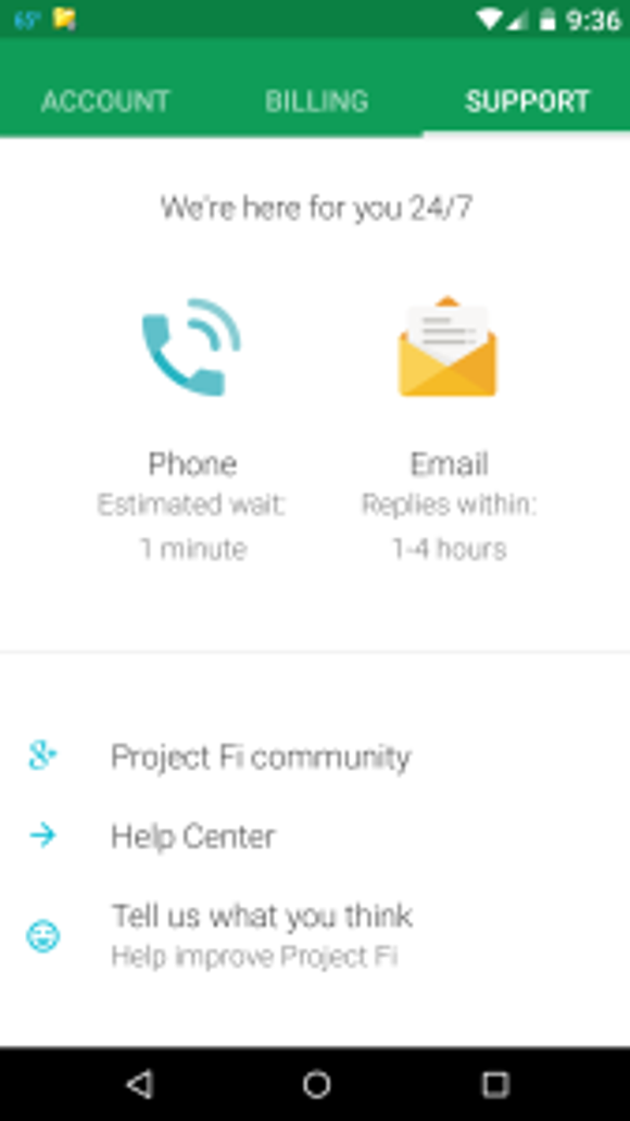 Project Fi support June 2015