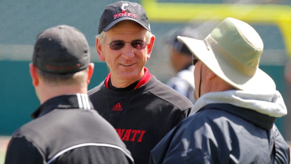 Tommy Tuberville during UC's spring game in April.