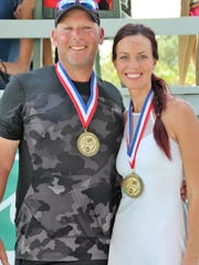 Patrick Galligan and Viktorija Roux won the Mixed Doubles
