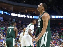 Michigan State cools down Miami in NCAA tournament opener