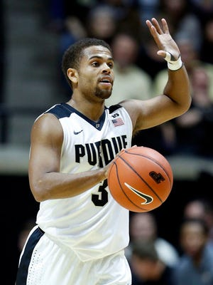 Dec 5, 2015; West Lafayette, IN, USA; Purdue Boilermakers guard P.J. Thompson (3) brings the ball up court against the New Mexico Lobos at Mackey Arena. Mandatory Credit: Brian Spurlock-USA TODAY Sports