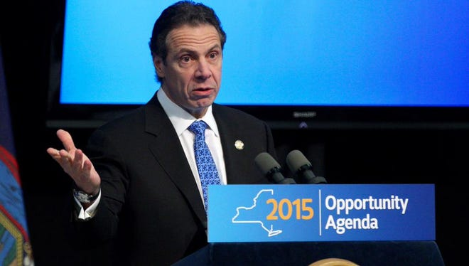 Gov. Andrew Cuomo at Thursday's announcement.