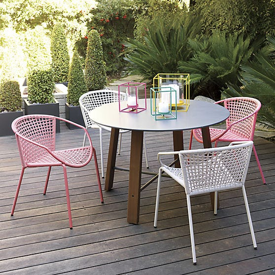 The Ray Dining Table, $229, Adds A Pop Of Urban Chic To Outdoor Dining