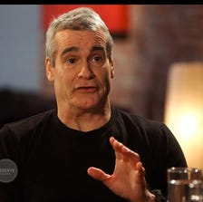 Performer, author and activist Henry Rollins, left, talks anger and music with Pharrell Williams.