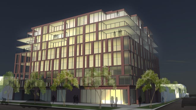The proposed Washington Square development would be at 12th Street and Main Avenue.