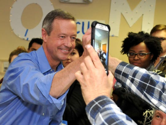 Democratic Presidential Candidate Martin O'Malley Campaigns In Iowa Ahead Of State's Caucus