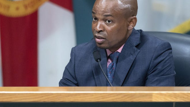 Palm Beach County Commissioner Mack Bernard speaks at a May 15 commission meeting.
