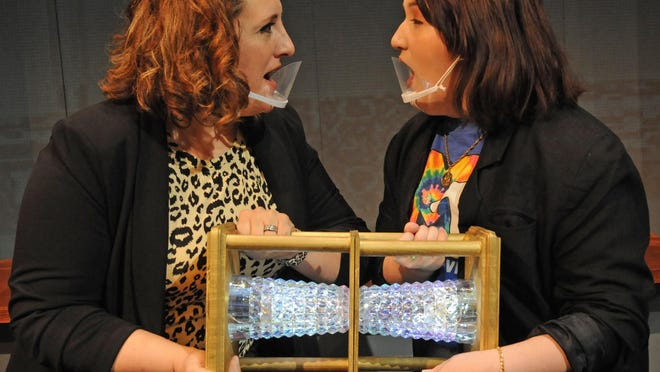 """Katherine Blake, played by Kristina Freeland, switches bodies with her teenage daughter Ellie Blake, played by Emma Kelly, in the upcoming comical musical """"Disney's Freaky Friday"""" that will be showing at the Salina Community Theatre starting Friday, Sept. 4."""