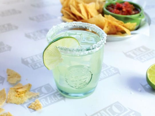 Add a margarita to your meal at Taco Garage in Murfreesboro.
