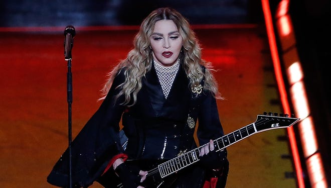 Madonna performs her Rebel Heart Tour at Allphones Arena on March 19, 2016 in Sydney, Australia.