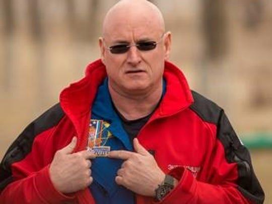 Former NASA astronaut Scott Kelly wearing a Breitling