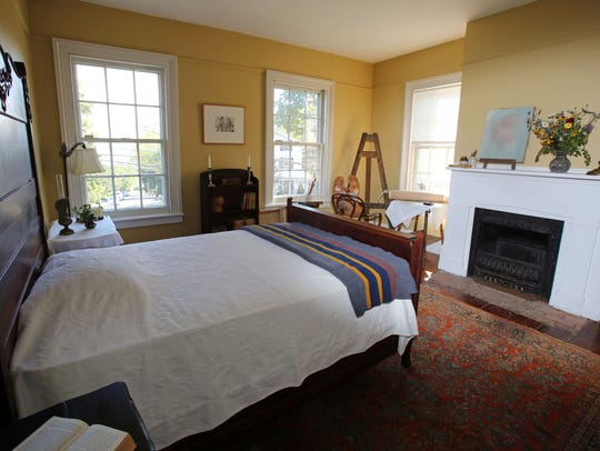 A view of Edward Hopper's bedroom, which has been restaged