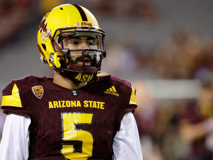 Arizona State Manny Wilkins prepares to play USC during