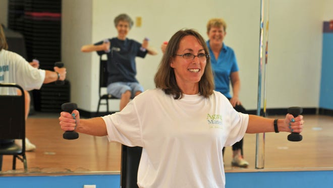 A Bone Builders class is led master trainer Sarah Williams at the Titusville YMCA. The class is part of the Retired and Senior Volunteer Program, RSVP, a service of nonprofit Aging Matters in Brevard.