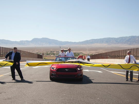 Residents, city officials and business owners gathered to celebrate the opening of Exit 118 on Interstate 15 on Thursday.