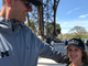 Jim Harbaugh and his daughter Addie at the Eiffel Tower.