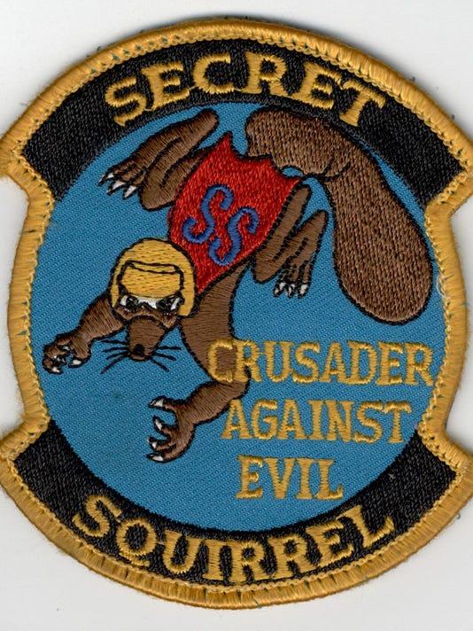 Secret Squirrel crew patch, 1991
