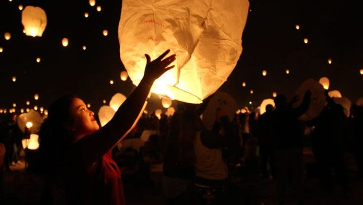 A photo from Lantern Fest 2016 in Fernley.
