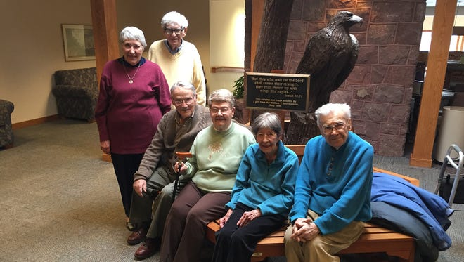 Couples, from left, Harriet and Robert Ziegler, Harold and Rosemere Croxton, and Fran and Jack Fisher have 196 years of total marriage experience.