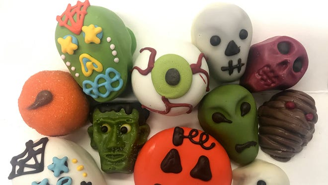 A variety of Halloween-decorated sweets at AJ's Fine Foods.