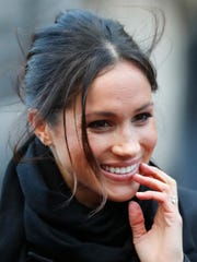 Meghan Markle's updo for her visit to Cardiff, Wales,