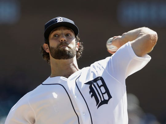Detroit Tigers starting pitcher Daniel Norris throws