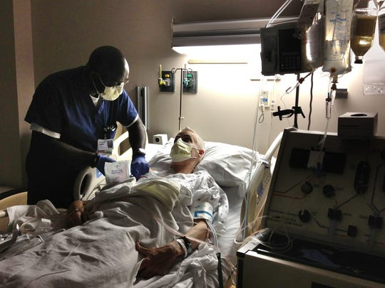 After rejection sets in shortly after John's transplant, he starts plasmapheresis, a dialysis-like process to fight the rejection.