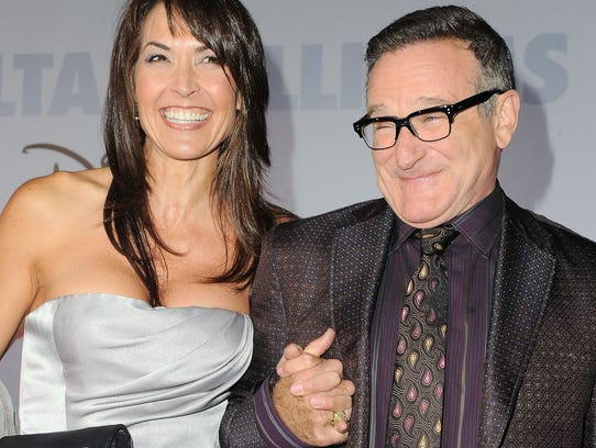 Actor Robin Williams and  his wife, Susan Schneider,