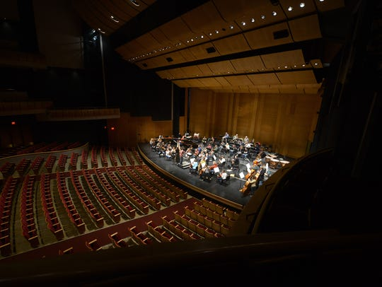 The Green Bay Symphony Orchestra rehearses for their