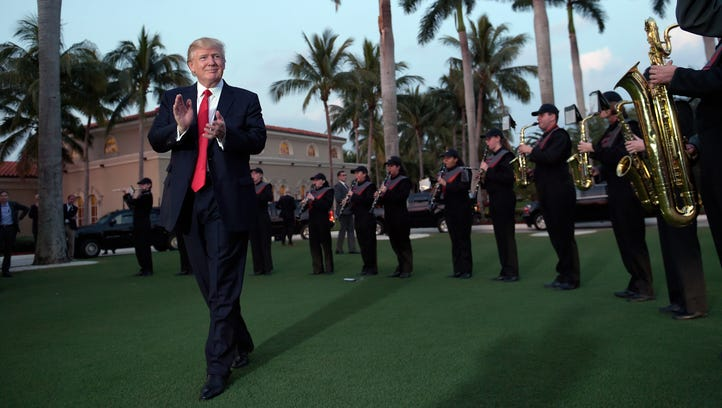 President Trump listens to the Palm Beach Central High
