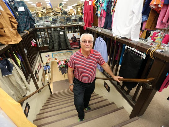 Lewis Saperstein is pictured at his shop, Saperstein's