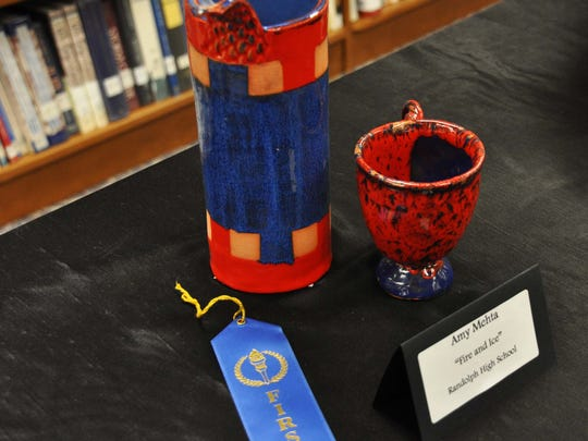 """Fire & Ice"" by Amy Mehta of Randolph High School was a 2014 MUDD 1st place winner."